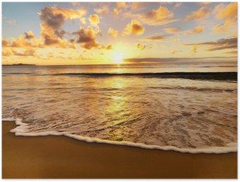 Plakát Krásný západ slunce na pláži