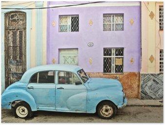 Plakát Kuba, La Habana, rozdělené Veteránem