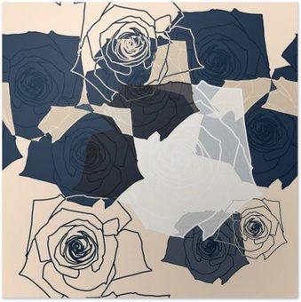 Plakát Květinový vzor bezešvé, EPS 10