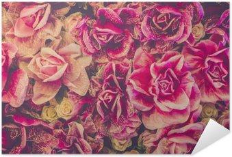 Plakát Kytice růží pozadí. retro filtr