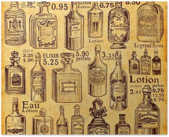 Plakát Láhve a parfémů