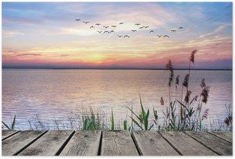 Plakát Lake barevné mraky