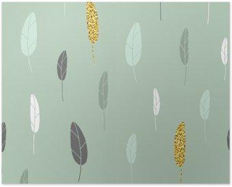 Plakát Leaf vzor