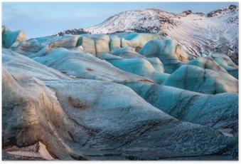 Plakát Ledovce Vatnajökull, Island, který je součástí národního parku Vatnajökull. Panoráma
