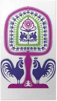 Plakát Leluja kurpiowska wycinanka