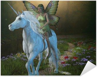 Plakát Lesní víla a Unicorn
