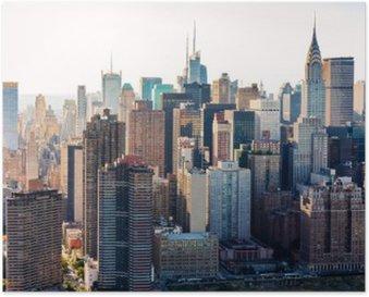 Plakát Letecký pohled na panorama New Yorku