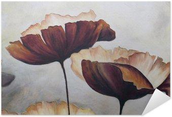 Plakát Mák abstraktní malby