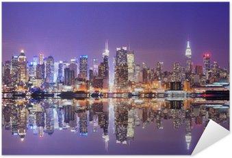 Plakát Manhattan Skyline s odrazy