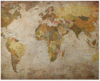 Plakát Map world