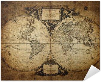 Plakát Mapa světa 1752