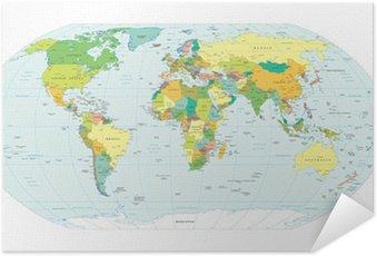 Plakát Mapa světa politické hranice