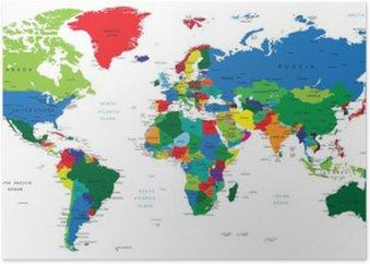 Plakát Mapa světa-země