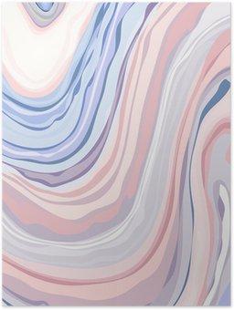 Plakát Marble Pattern - Abstraktní textura s Měkké pastely Colors 2016