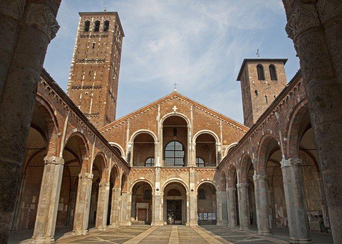 Plakát Milán - San Ambrogio - Ambrosius kostel - Evropa