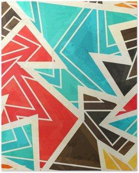 Plakat Młodzieży geometryczne szwu z mocą grunge