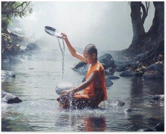 Plakát Mnich hra voda