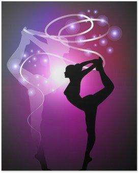 Plakát Moderní gymnastika - Ribbon