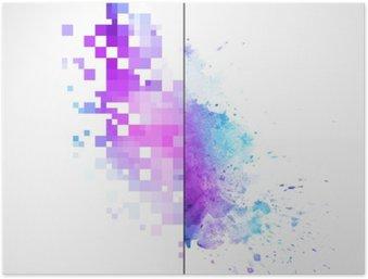 Plakát Moderní vektor pozadí s akvarelem skvrna