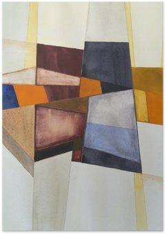 Plakát Modernista abstraktní akvarel