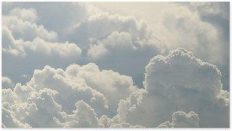 Plakát Modrá obloha a krásné mraky