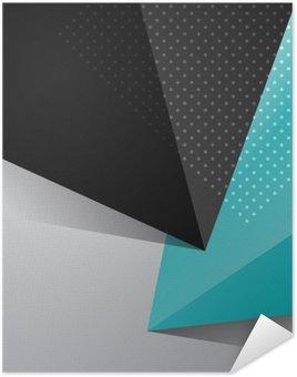 Plakát Modré a černé pozadí abstraktní konstrukce