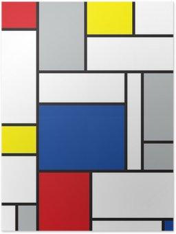 Plakát Mondrian inspiroval umění