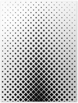 Plakát Monochromatický čtvercový vzor pozadí design