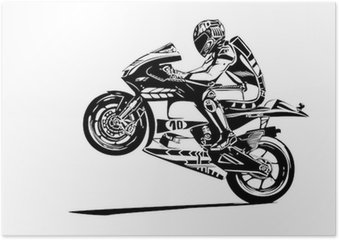 Plakát Moto gp wheelie