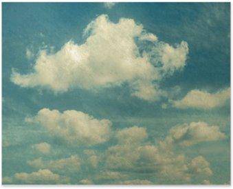 Plakát Mraky ve stylu vintage. nebe s mraky Stylizované podle starých fotografiích.