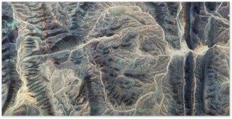 Plakat Mumia, abstrakcyjne pejzaże pustyniach Afryki, kamienna twarz, abstrakcyjnych stock pustyniach Afryki z powietrza, abstrakcyjnego surrealizmu, miraż na pustyni, fantazji kamienia, Ekspresjonizm abstrakcyjny