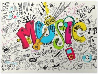 Plakát Music Doodle
