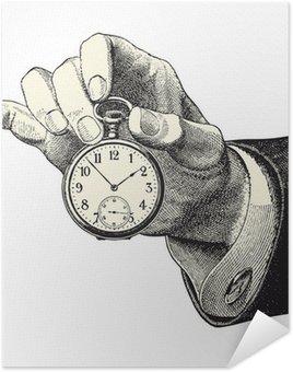 Plakát Muž držel hodinky