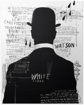 Plakát Muž v klobouku