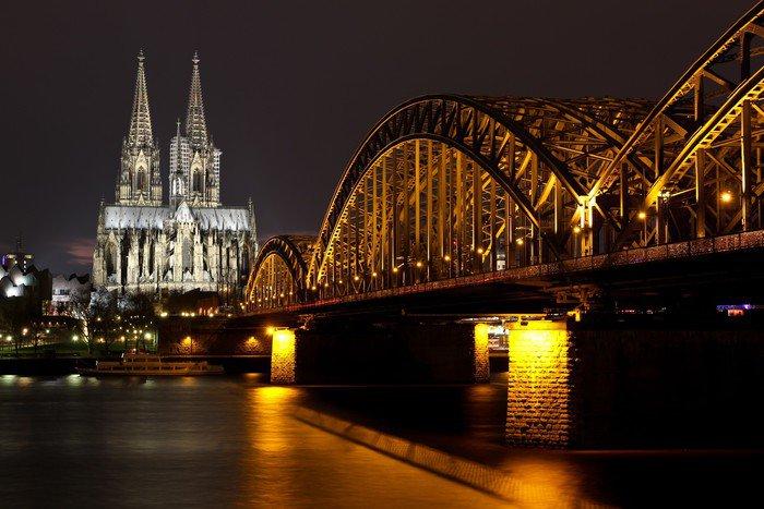 Plakát Nachtaufnahme Köln - Evropa