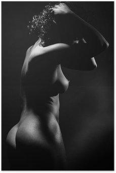 Plakát Nahá žena v profilu