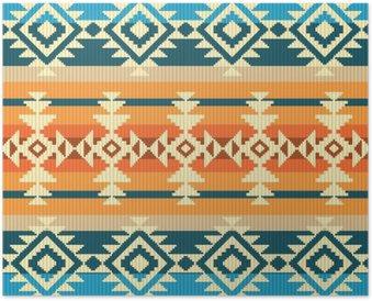 Plakát Navajo styl geometrický vzor bezešvé