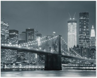 Plakát New York City Brooklyn Bridge