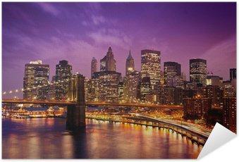 Plakát New York Manhattan Pont de Brooklyn