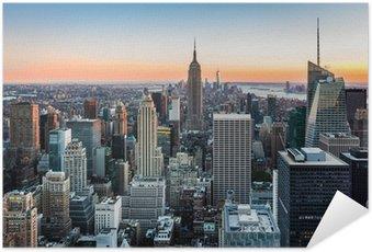 Plakát New York Skyline při západu slunce