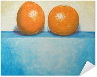 Plakát Obraz ze dvou pomerančů