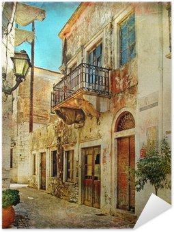 Plakát Obrazová staré ulice Řecka