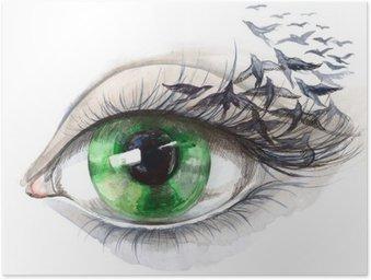 Plakát Oko s ptáky (řada C)