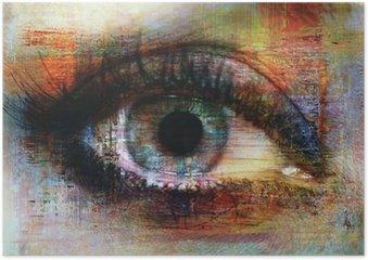 Plakát Oko textury