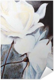 Plakát Olejomalba: Bílé růže