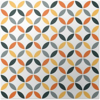 Plakát Orange Geometrická Retro bezešvé vzor
