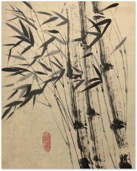 Plakát Originální kresba z bambusu