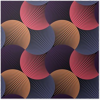 Plakát Ozdobený Geometrické Petals Grid, abstraktní vektorové bezešvé vzor