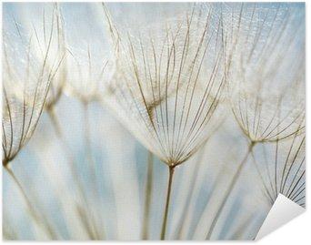Plakat Pixerstick Abstrakcyjne tło kwiat mniszka