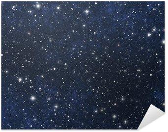 Plakat Pixerstick Nocne niebo gwiazdy wypełnione